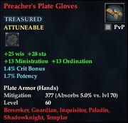 Preacher's Plate Gloves