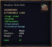 Shadow Hide Belt