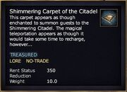 Shimmering Carpet of the Citadel