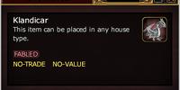 Klandicar (House Item)