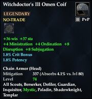 Witchdoctor's Ill Omen Coif