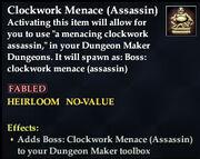 Clockwork Menace (Assassin)
