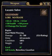 Lucanic Sabre