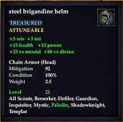 Steel brigandine helm