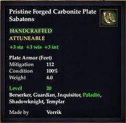 Carbonite Plate Sabatons