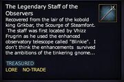 The Legendary Staff of the Observers