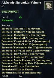 Alchemist Essentials Volume 63
