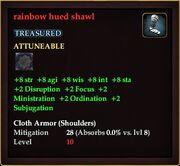 Rainbow hued shawl