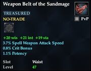 Weapon Belt of the Sandmage