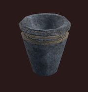 A Clay Urn Placed
