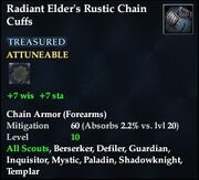 Radiant Elder's Rustic Chain Cuffs