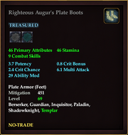 Righteous Augur's Plate Boots