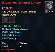 Fragmented Token of Loyalty