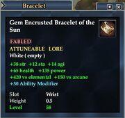 Gem Encrusted Bracelet of the Sun