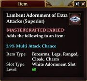 Lambent Adornment of Extra Attacks (Superior)