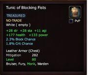 Tunic of Blocking Fists