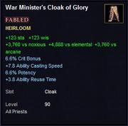 War Minister's Cloak of Glory
