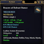 Bracers of Robust Stance