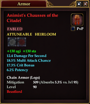 Animist's Chausses of the Citadel