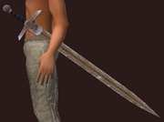 Blessed Iron Long Sword (Equipped)