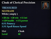 Cloak of Clerical Precision