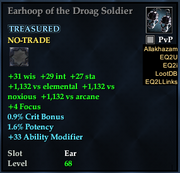 Earhoop of the Droag Soldier