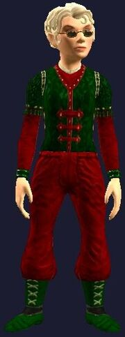 Snappy Red and Green with bracers (Equipped)