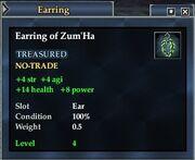Earring of Zum'Ha