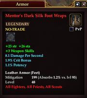 Mentor's Dark Silk Foot Wraps