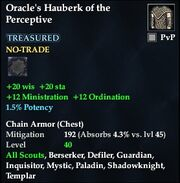Oracle's Hauberk of the Perceptive