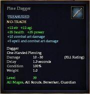 Pine Dagger