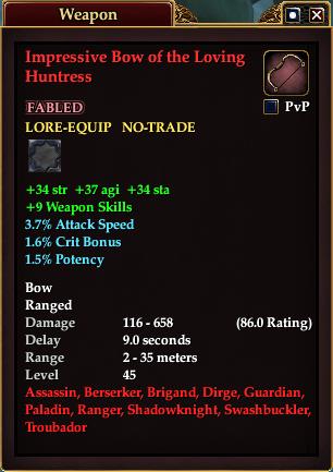 Impressive Bow of the Loving Huntress