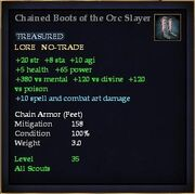 Chained Boots of the Orc Slayer