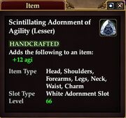 Scintillating Adornment of Agility (Lesser)
