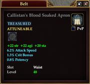 Callistan's Blood Soaked Apron