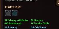 Earstud of the Crocodile