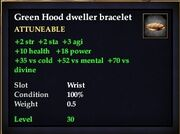 Green Hood dweller bracelet