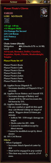 Planar Pirate's Gloves