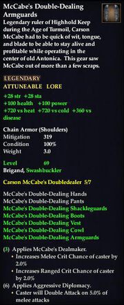 McCabe's Double-Dealing Armguards