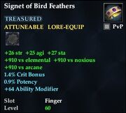 Signet of Bird Feathers