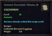 Armorer Essentials Volume 28