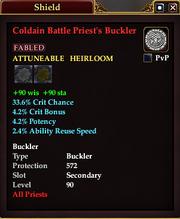 Coldain Battle Priest's Buckler