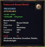 Putrescent Round Shield