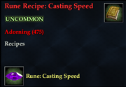 Rune Recipe- Casting Speed