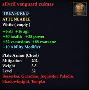 Silvril vanguard cuirass