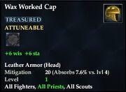 Wax Worked Cap