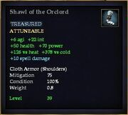 Shawl of the Orclord