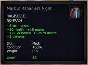 Mark of Mithaniel's Might