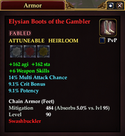 Elysian Boots of the Gambler