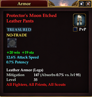 Protector's Moon Etched Leather Pants